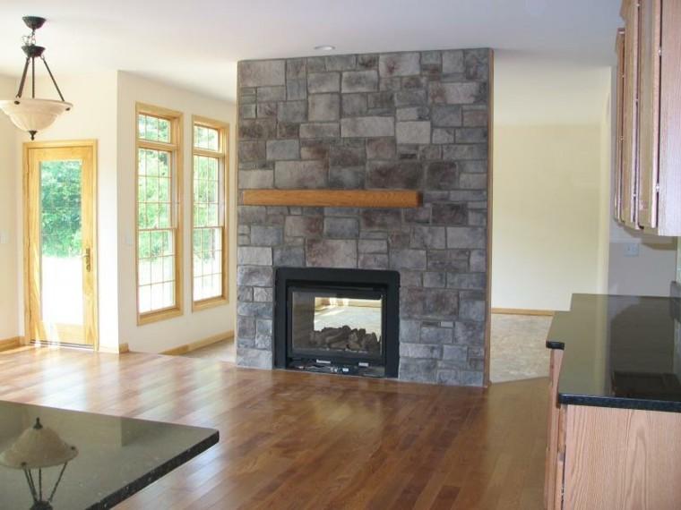 chimenea diseño roca pared textura