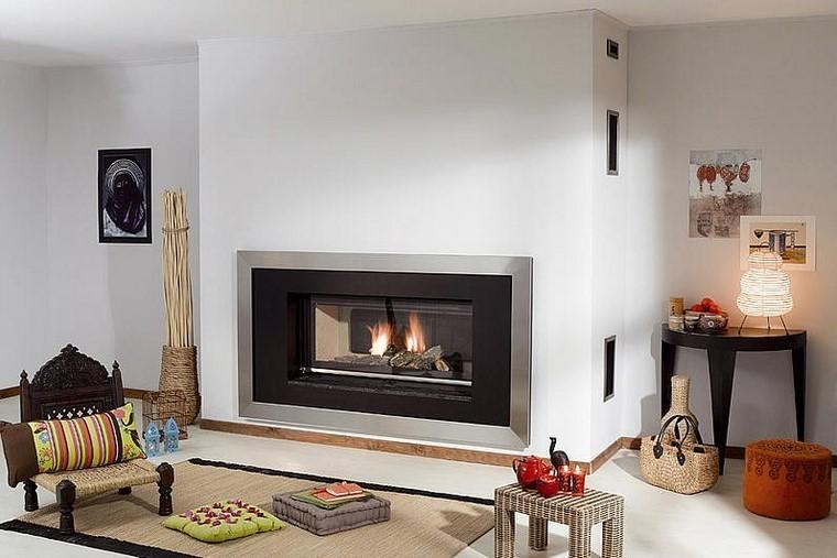 Chimeneas modernas en salones acogedores y amenos - Decoracion de salones con chimenea ...