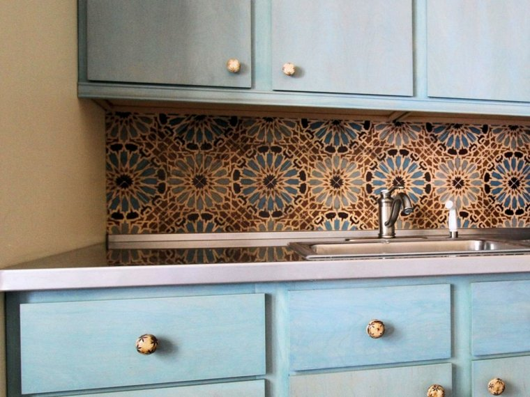 circulos gaveteros azules encimeras vintage