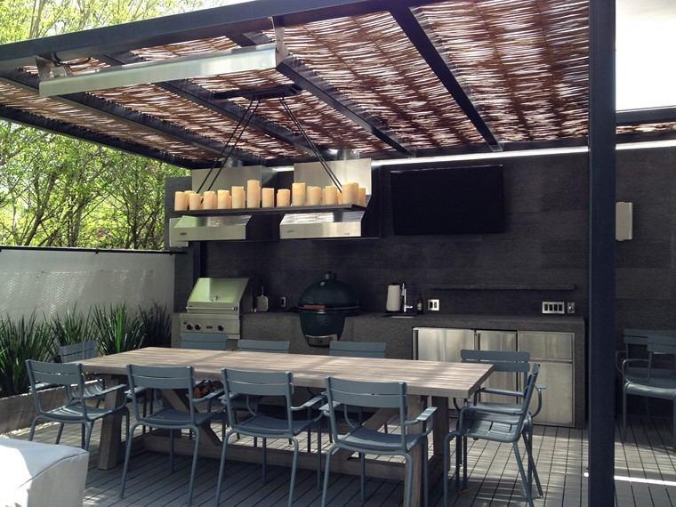 P rgolas jardines terrazas con estilo muy modernas for Ideas de techos para terrazas