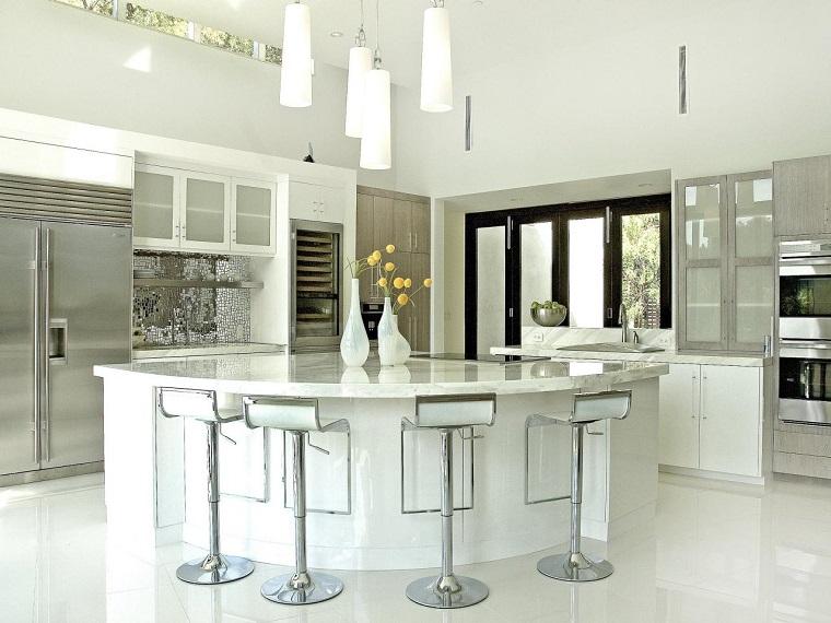 Encimeras de cocina granito m rmol madera para elegir for Encimera cocina marmol o granito