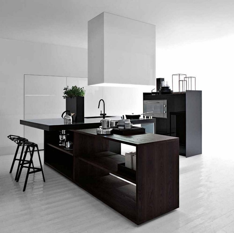 cocina amplia moderna lineas simples moderna