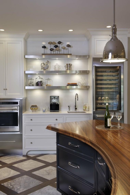 cocina armario negro encimera madera lujoso ideas