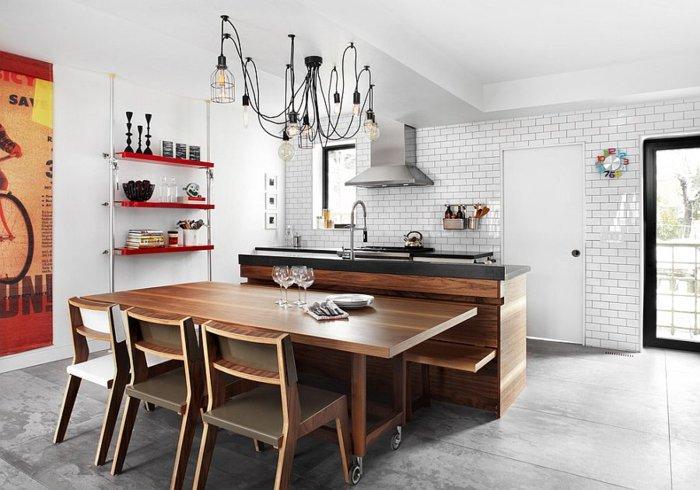cocina blanca azulejos blancos metro