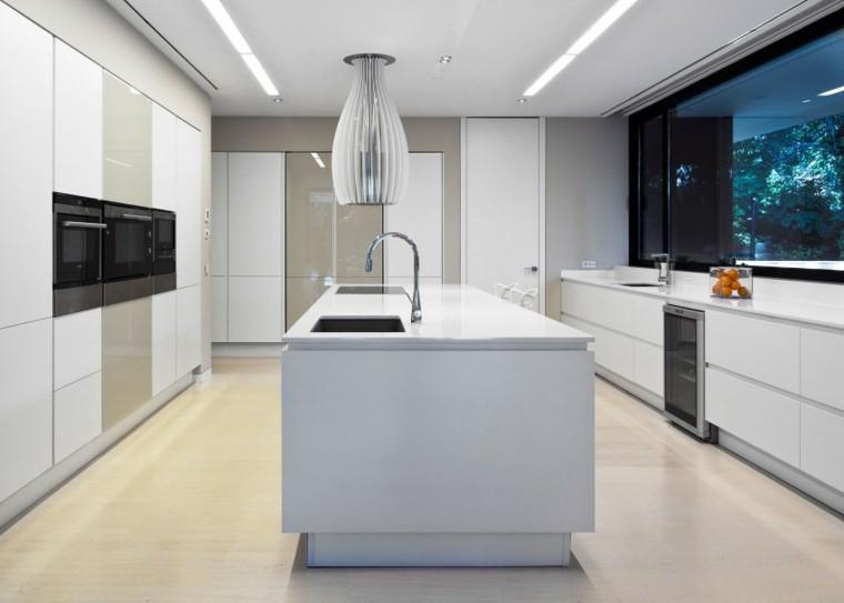 cocina blanca moderna diseño minimalista