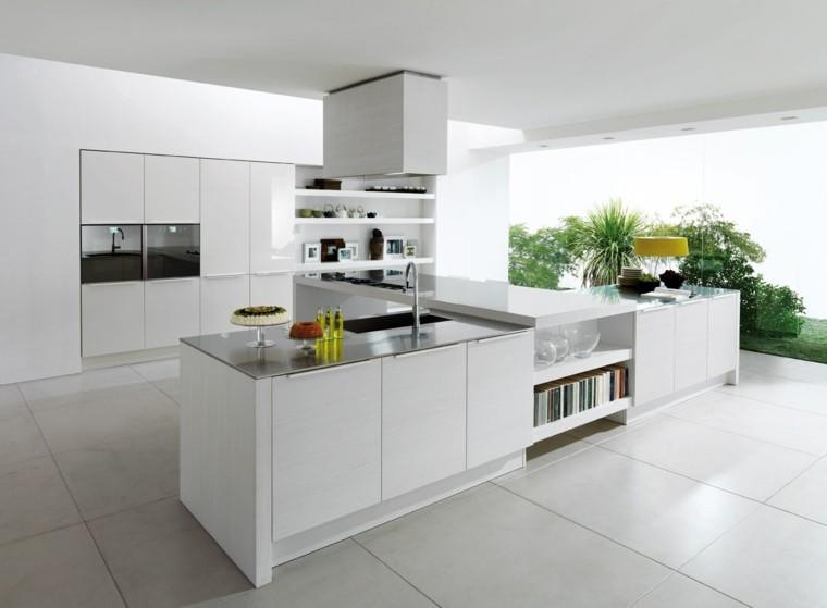 cocina moderna blanca vistas patio