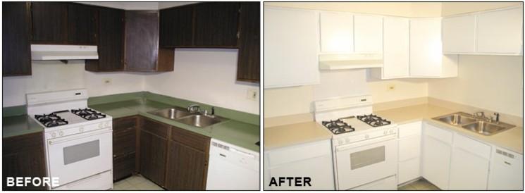 Muebles de cocina baratos gabinetes y despensas - Pintar muebles de cocina antes y despues ...