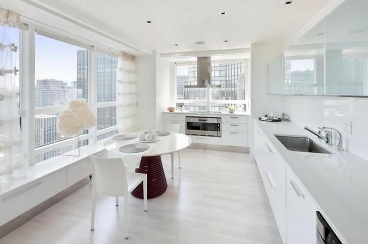 cocina diseño blanco pulida brillo