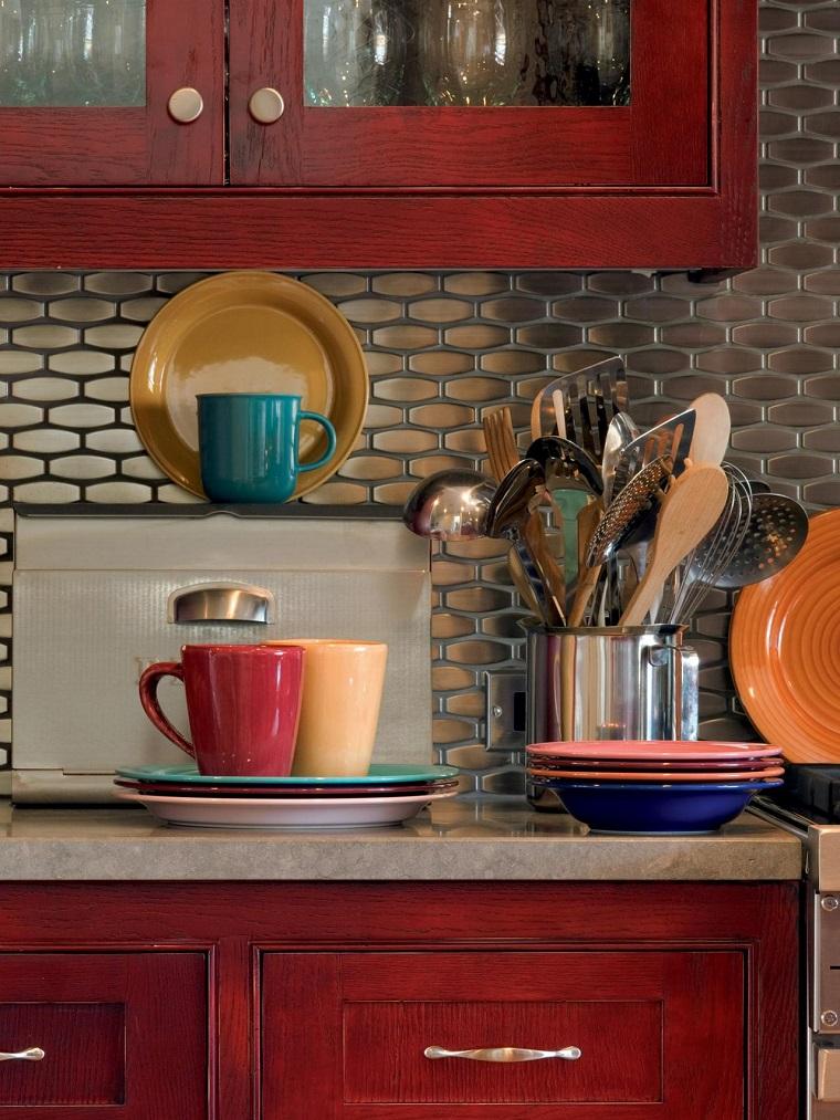 cocina encimera granito armarios madera ideas