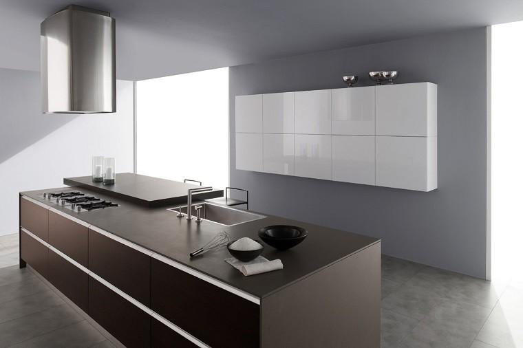 cocina encimera madera color oscuro amplia ideas