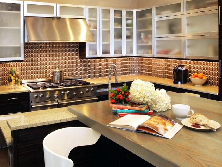 cocina estilo contemporaneo encimera madera ideas