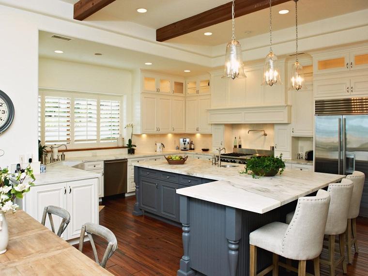 cocina estilo tradicional encimera marmol ideas