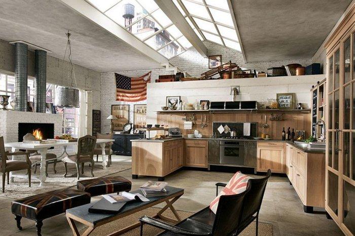 cocina estilo industrial muebles madera