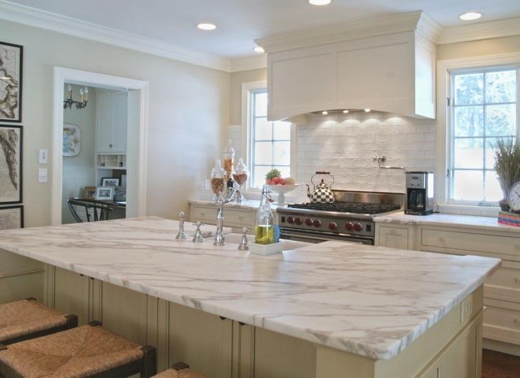 cocina isla encimera marmol preciosa ideas
