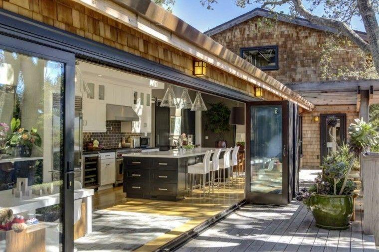 Cocinas modernas para el aire libre 50 ideas exquisitas - Cocinas abiertas rusticas ...