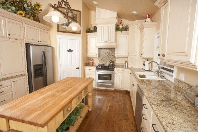 Encimeras de cocina granito m rmol madera para elegir - Marmol en cocina ...