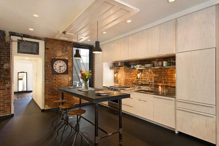 Electrodomesticos y cocinas de aspecto industrial 100 ideas for Cocinas de ladrillo
