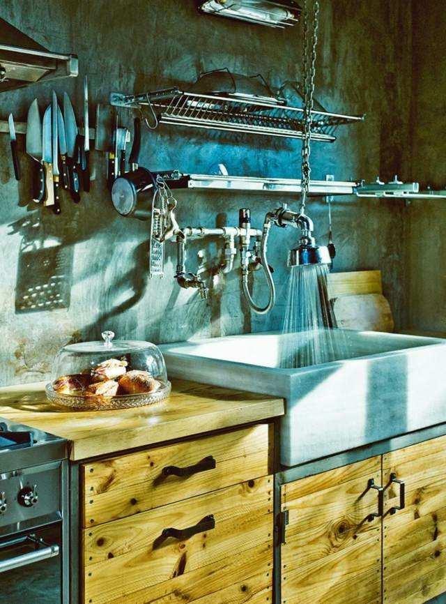 Casas modernas 50 ideas para decorar interiores for Cocina estilo industrial
