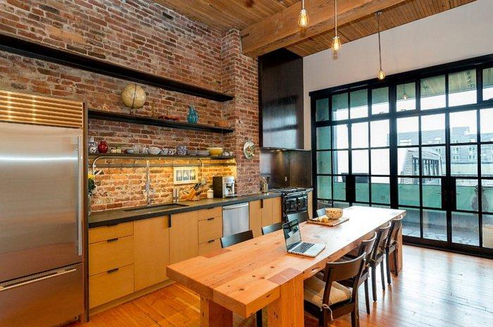 cocina industrial mesa madera isla