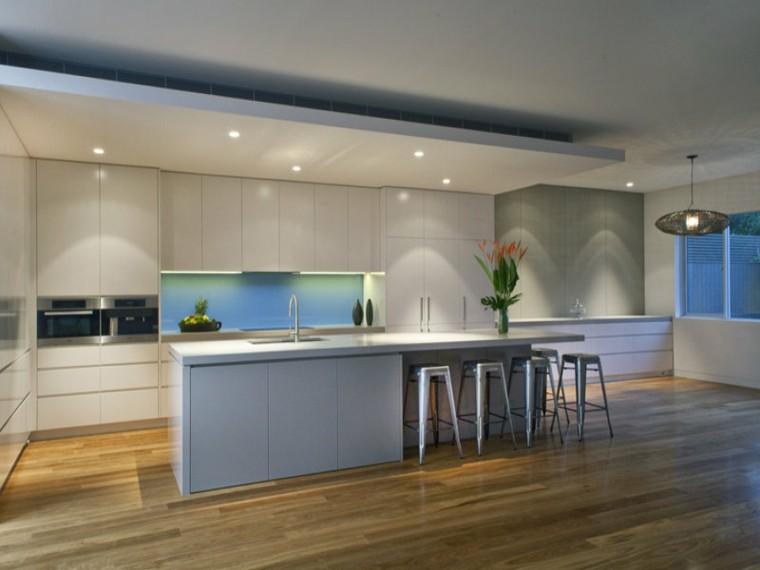 cocina moderna color blanco gris