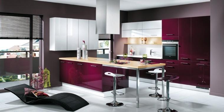 Decoración de interiores cocinas con tumbonas una idea muy interesante