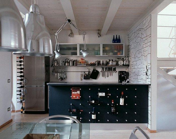cocina moderna diseño laboratorio acero electrodomesticos