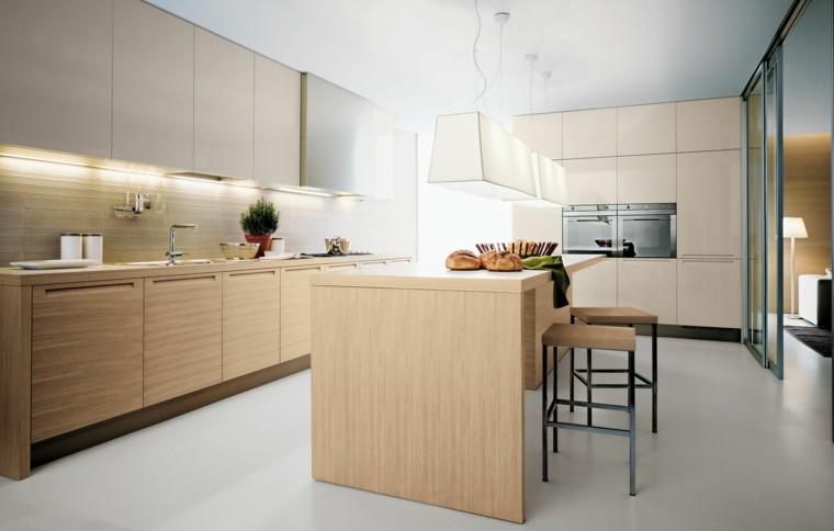 Encimeras de cocina madera maciza para la cocina - Cocinas de madera modernas ...