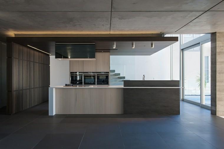 cocina moderna estilo industrial gris