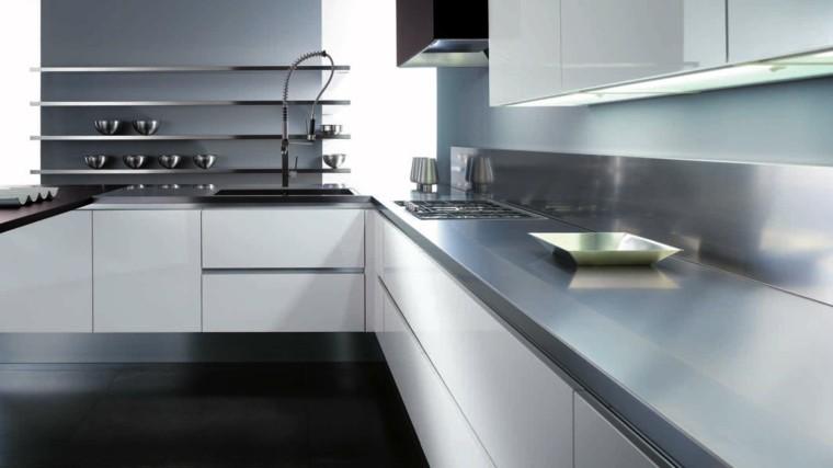 diseño cocina moderna metal acero