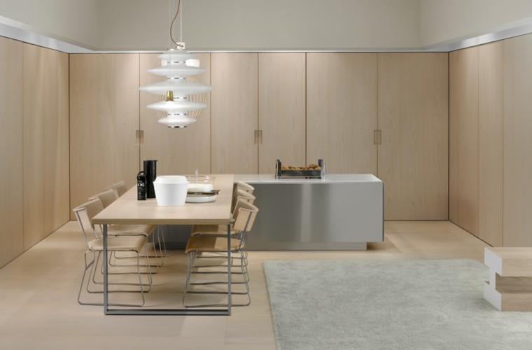 cocina moderna muebles color beige
