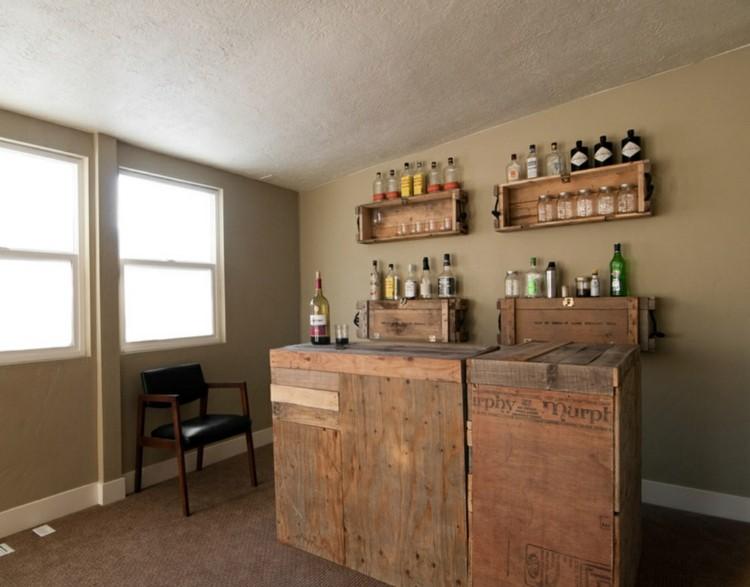 cocina moderna muebles pallet madera