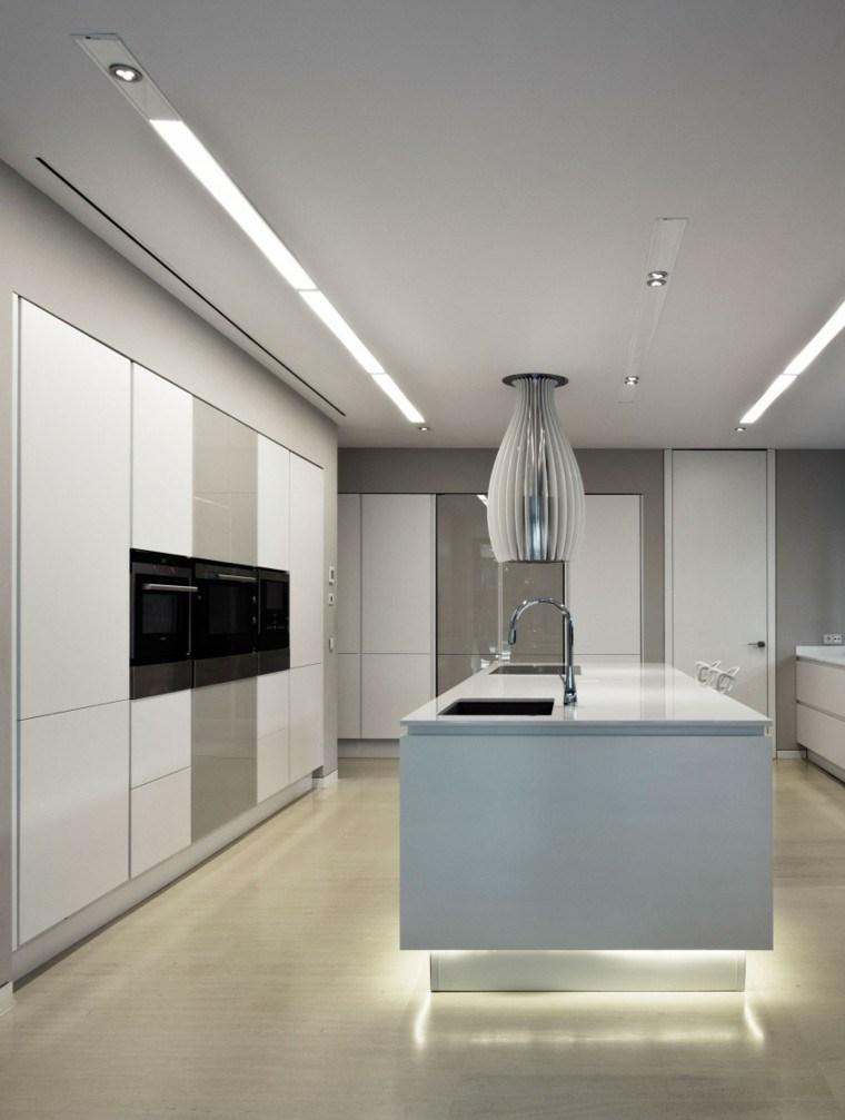 cocina moderna blanca park house