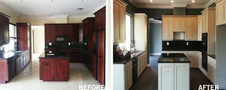 cocina restaurada foto antes despues