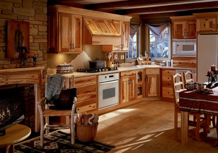 Casas de campo 50 variantes para decorarlas con estilo - Cocinas rusticas de campo ...