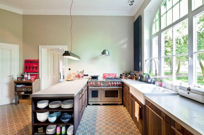 cocina diseño simple estilo boho