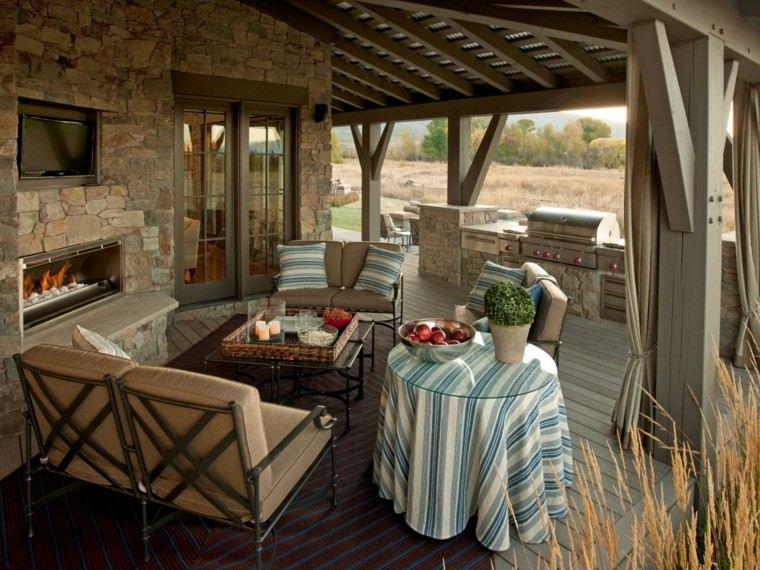 cocina terraza muebles descanso comodos ideas