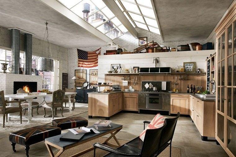 cocinas amplias estilo masculino preciosas apartamento moderna