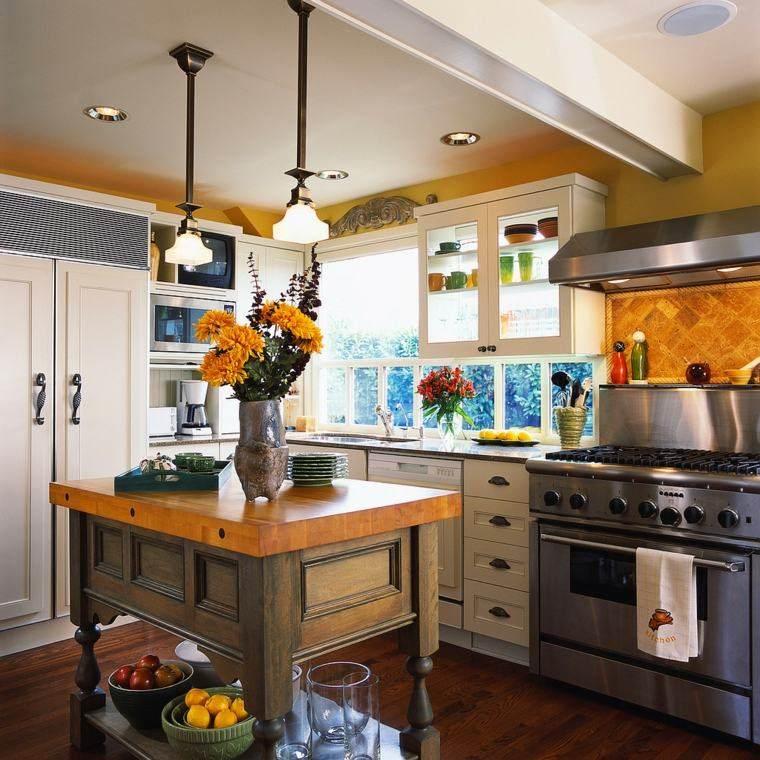 Cocinas estilo campestre   50 ideas motivantes a considerar.