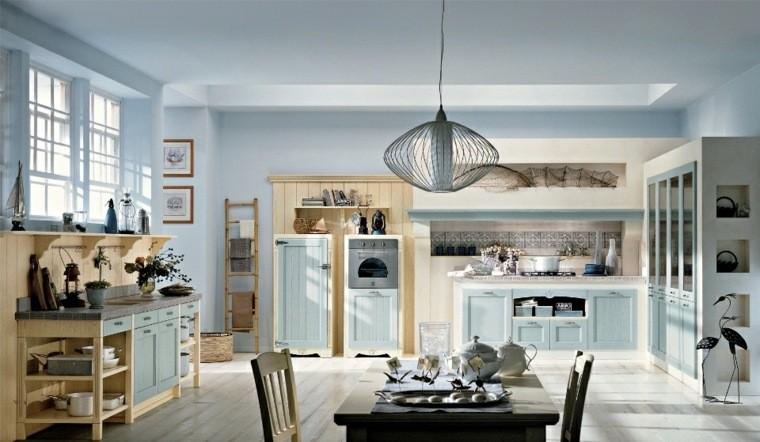 cocinas estilo lampara comedor color claro