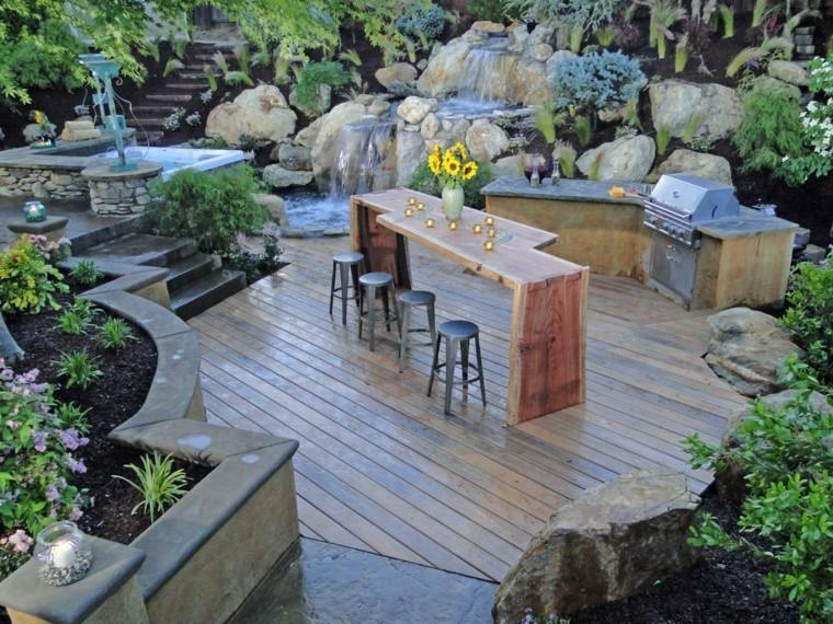 Cocinas modernas para el aire libre 50 ideas exquisitas for Caidas de agua para jardin