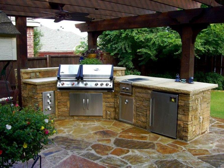 cocinas modernas pergola madera aire libre ideas