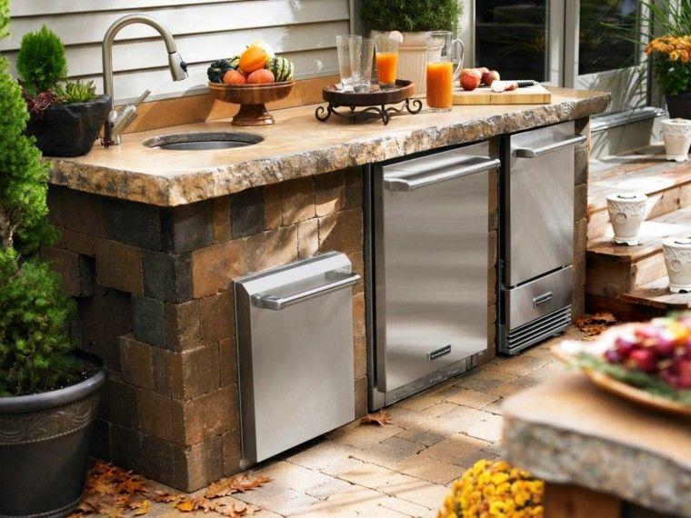 Cocinas modernas para el aire libre 50 ideas exquisitas - Piedra para cocina ...
