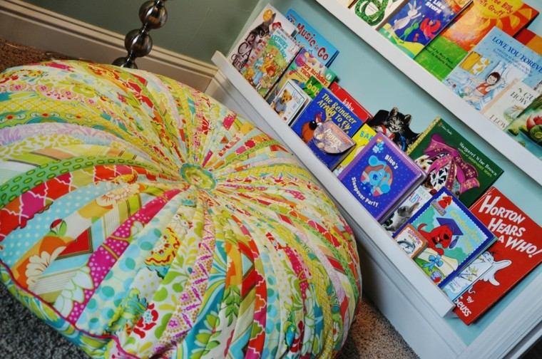 cojin grande forma redonda colores llamativos ideas