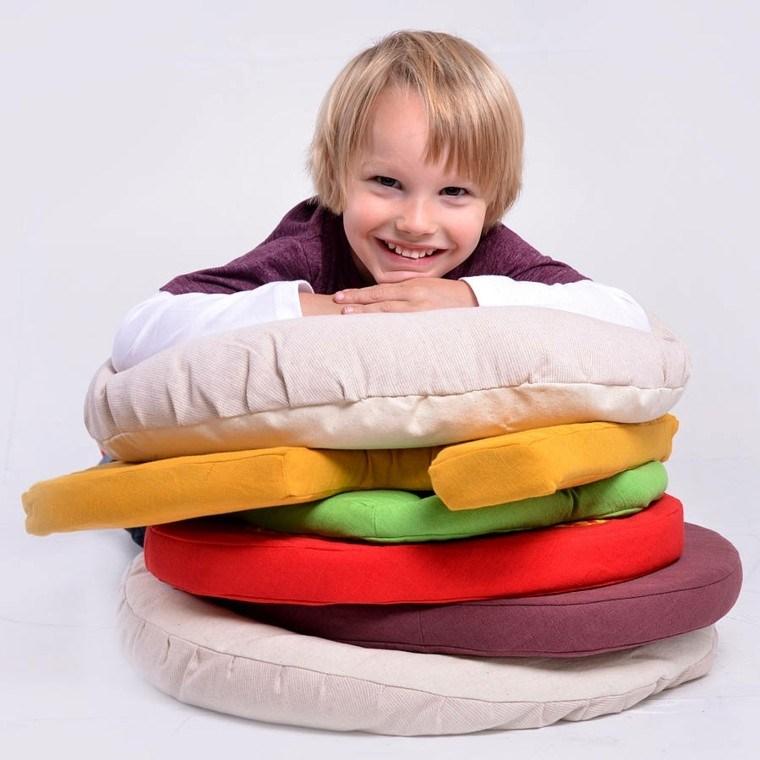 cojin hamburguesa habitacion nino feliz ideas