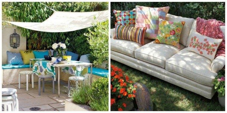 cojin jardin sofa exterior techado