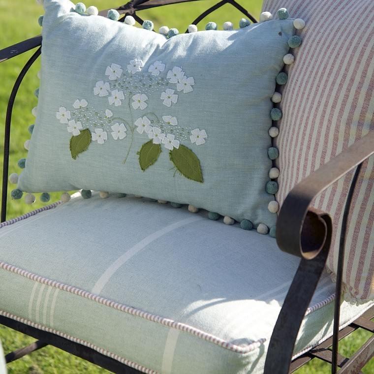 cojin metal asiento jardines fresco