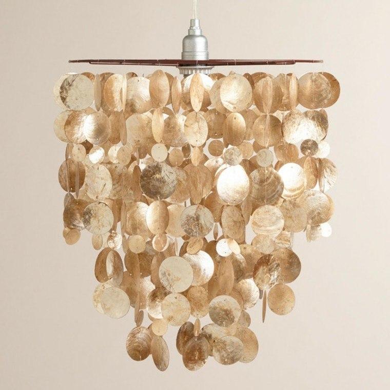 colgante modelo lamparas conchas natural