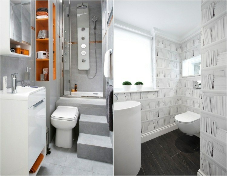 collage diseño moderno baños pequeños