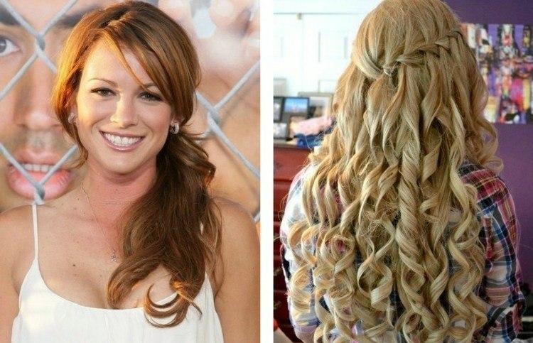 collage pelirroja rubia peinados melena - Peinados Con Tenacillas