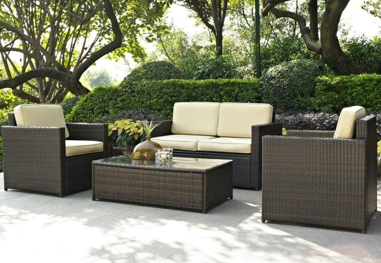 Muebles De Rattan Para Exterior : Sofs para jardin y exteriores lindos muebles terrazas